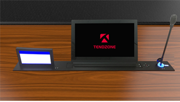 TendZone 15.6寸液晶带话筒桌牌升降一体机